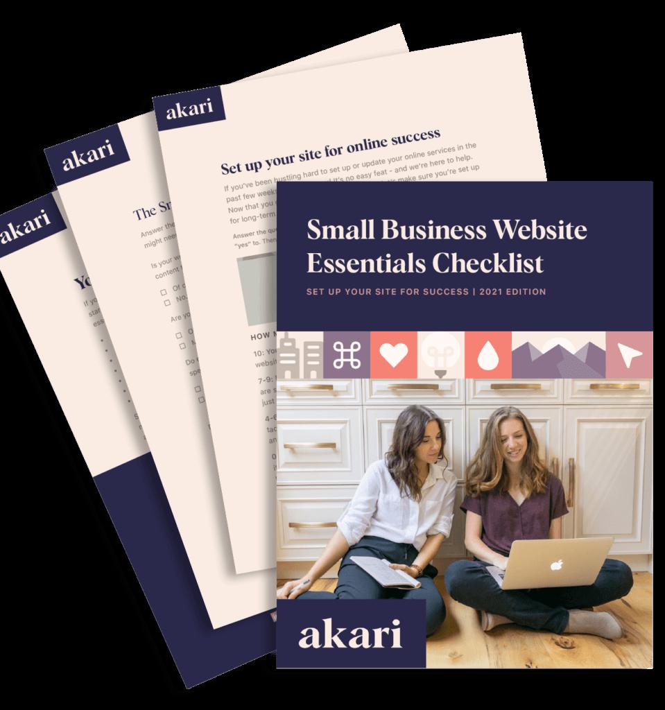 Preview of Small Business Website Essentials Checklist PDF