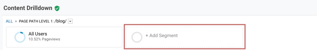 Measuring the performance of your blog post with Google Analytics | Add a Segment