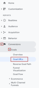 Measuring the performance of your blog post with Google Analytics | Finding the Goal URLs Report