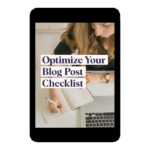 Preview of PDF Checklist for Optimizing Your Blog Post
